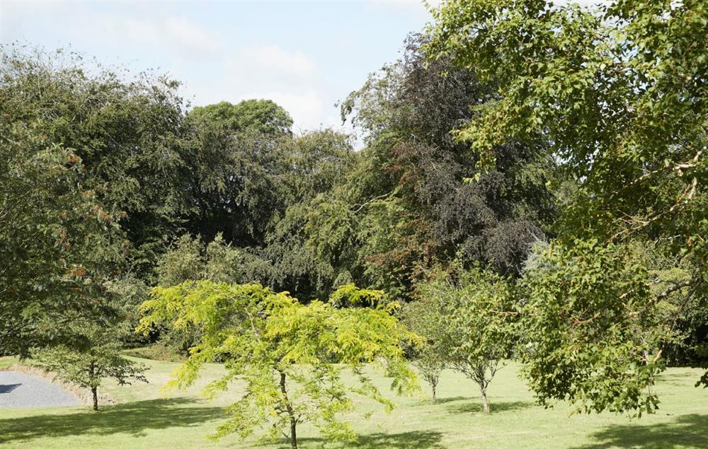 Over one acre of landscaped grounds