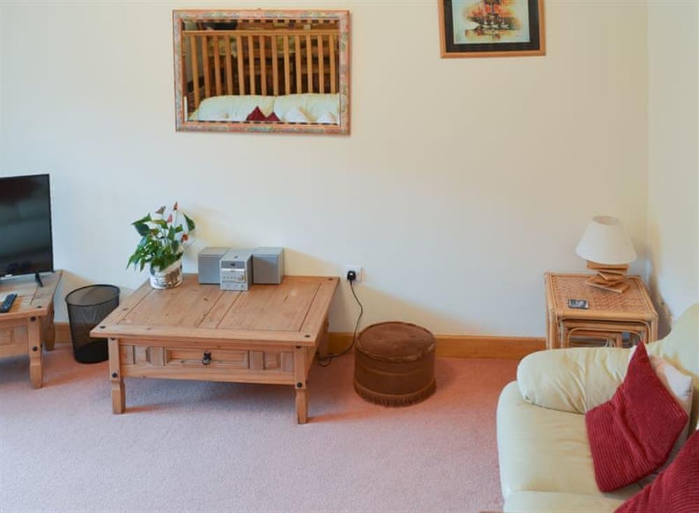 Comfortable living space at Stable Barn in Hendham, near Kingsbridge, Devon