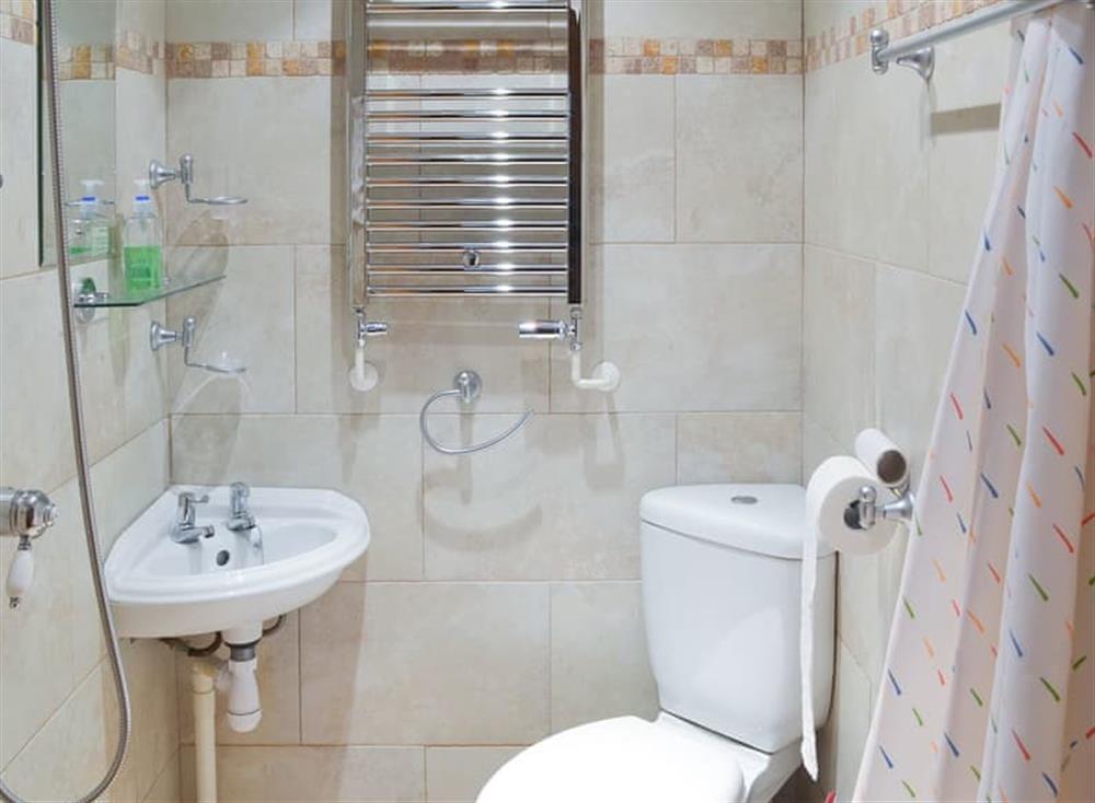 Wet room with shower at Stable Barn in Hendham, near Kingsbridge, Devon