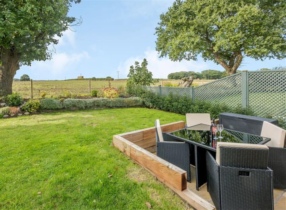 Peaceful sitting-out-area with wonderful countryside views at Stackyard Cottage in Skeyton, near North Walsham, Norfolk