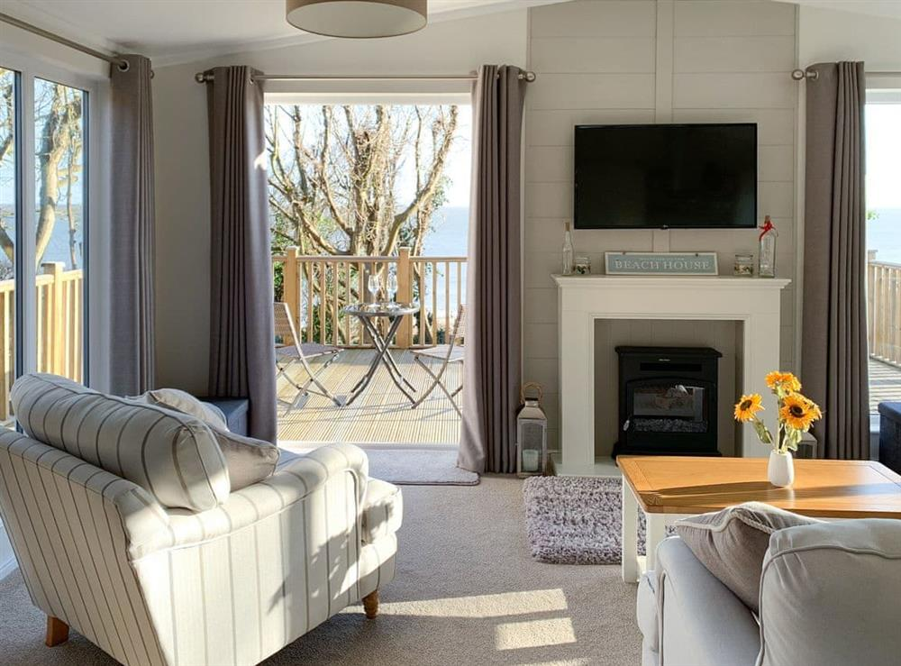 Open plan living space at Starboard Holm in Corton, near Lowestoft, Suffolk