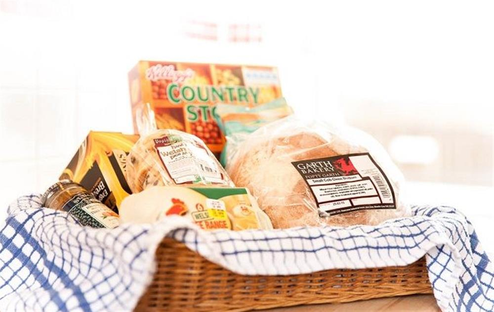 A welcome hamper to greet you at Stella, Nash Point Lighthouse