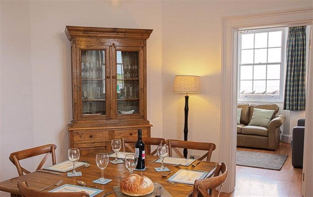 Ground floor:  Dining room at Stella, Nash Point Lighthouse
