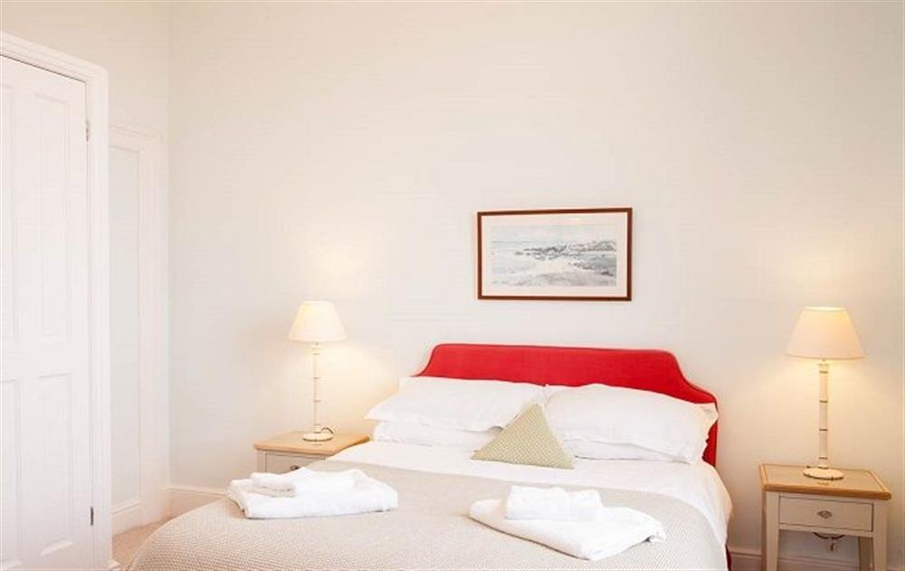 Ground floor:  Double bedroom with 5' bed at Stella, Nash Point Lighthouse
