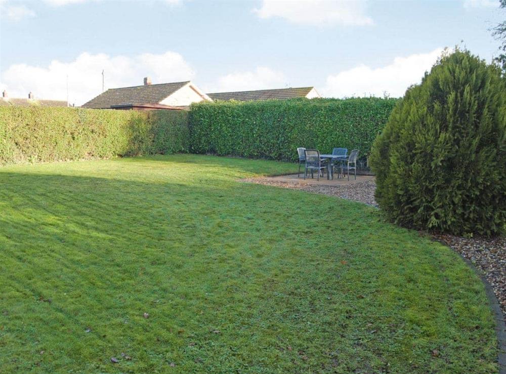 Garden at Stileaway in Potter Heigham, near Great Yarmouth, Norfolk