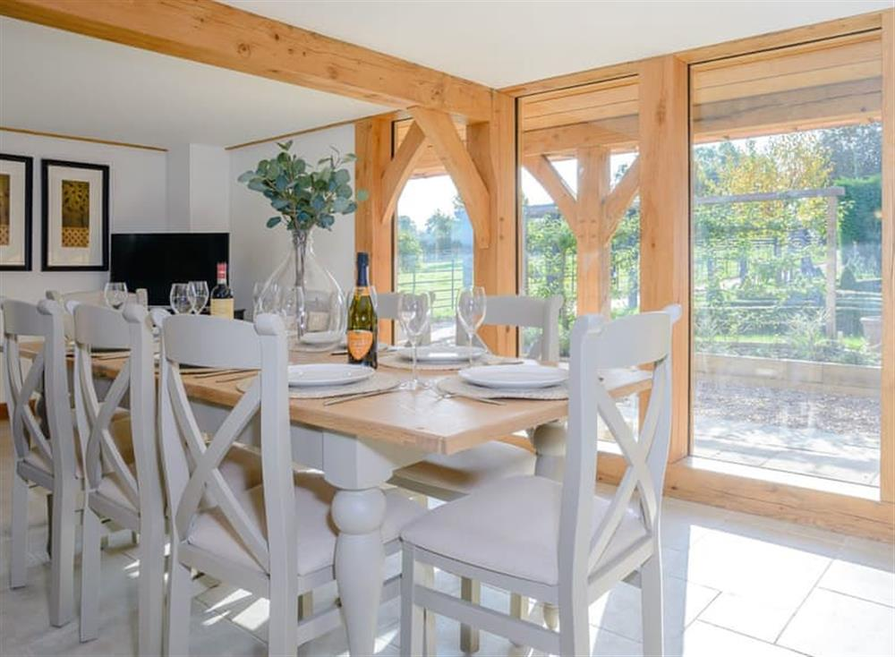 Light and airy dining space