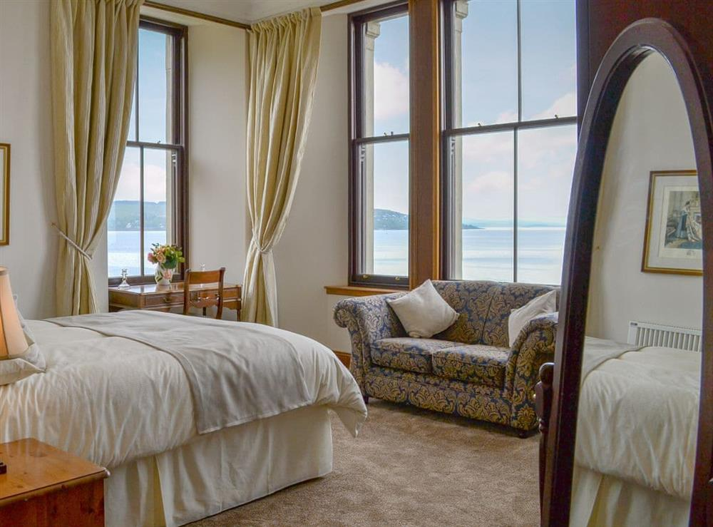 Stunning views across the Holy Loch throughout the bedroom at Strone House in Strone, near Dunoon, Argyll and Bute, Scotland