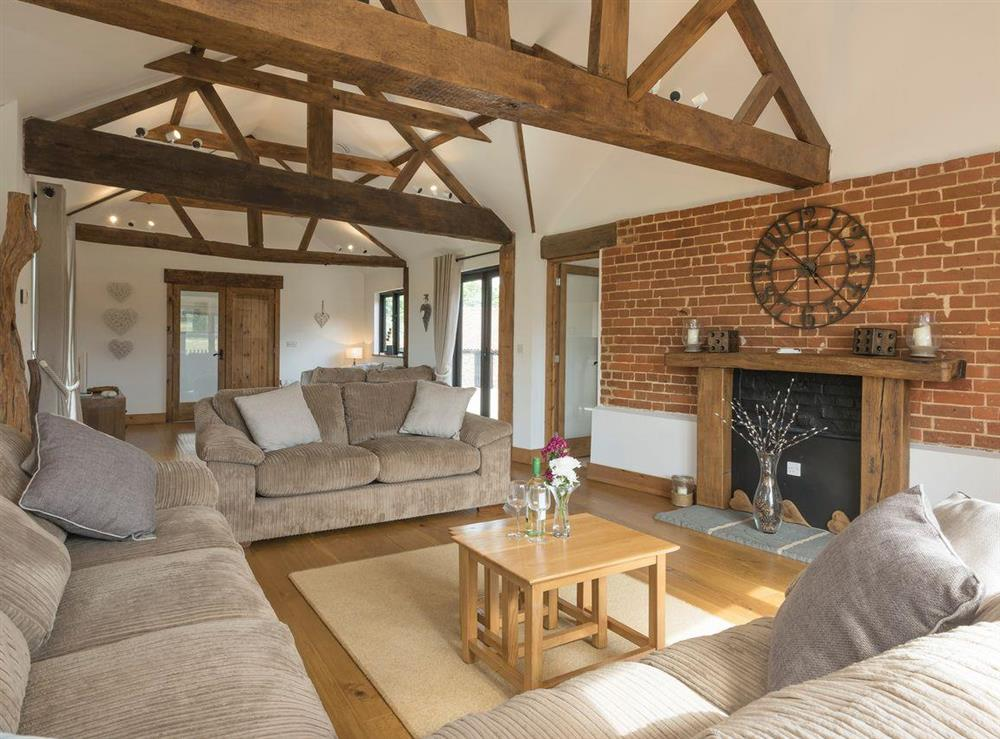 Welcoming living area at Summer House Stables in Catfield, near Stalham, Norfolk