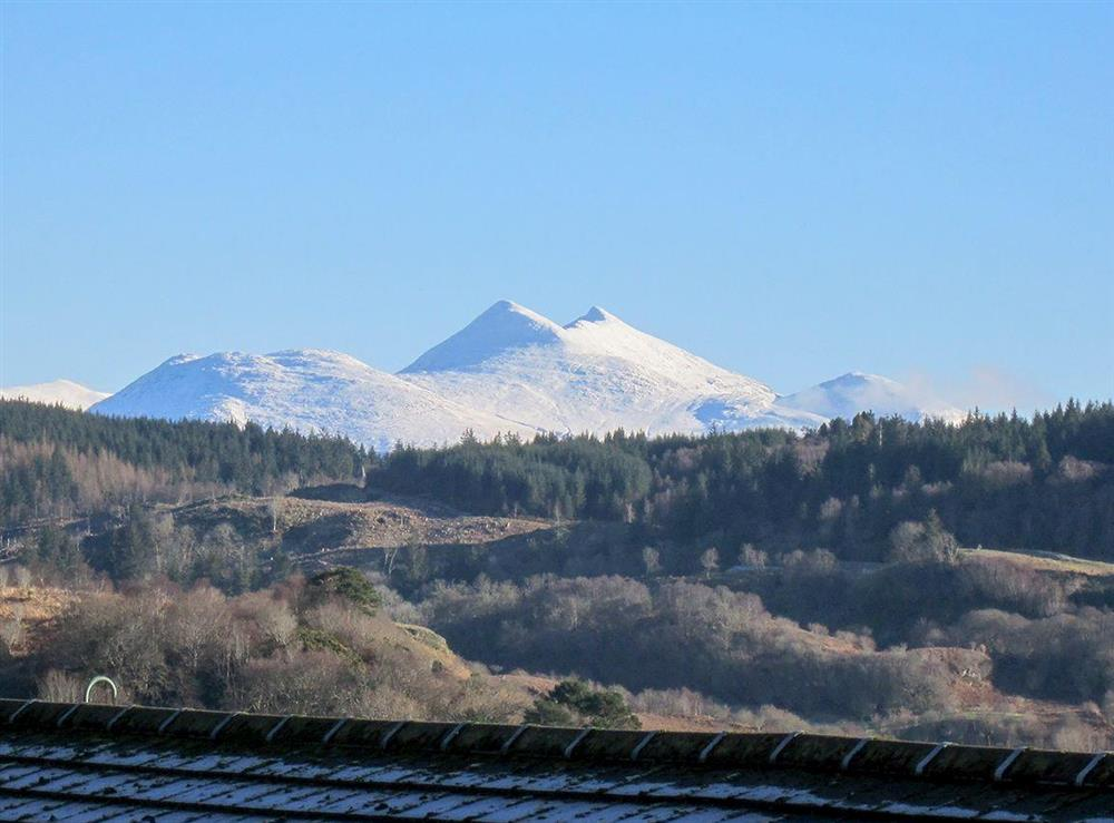 Ben Cruachan from the picnic table at Summit in Oban, Argyll and Bute, Scotland