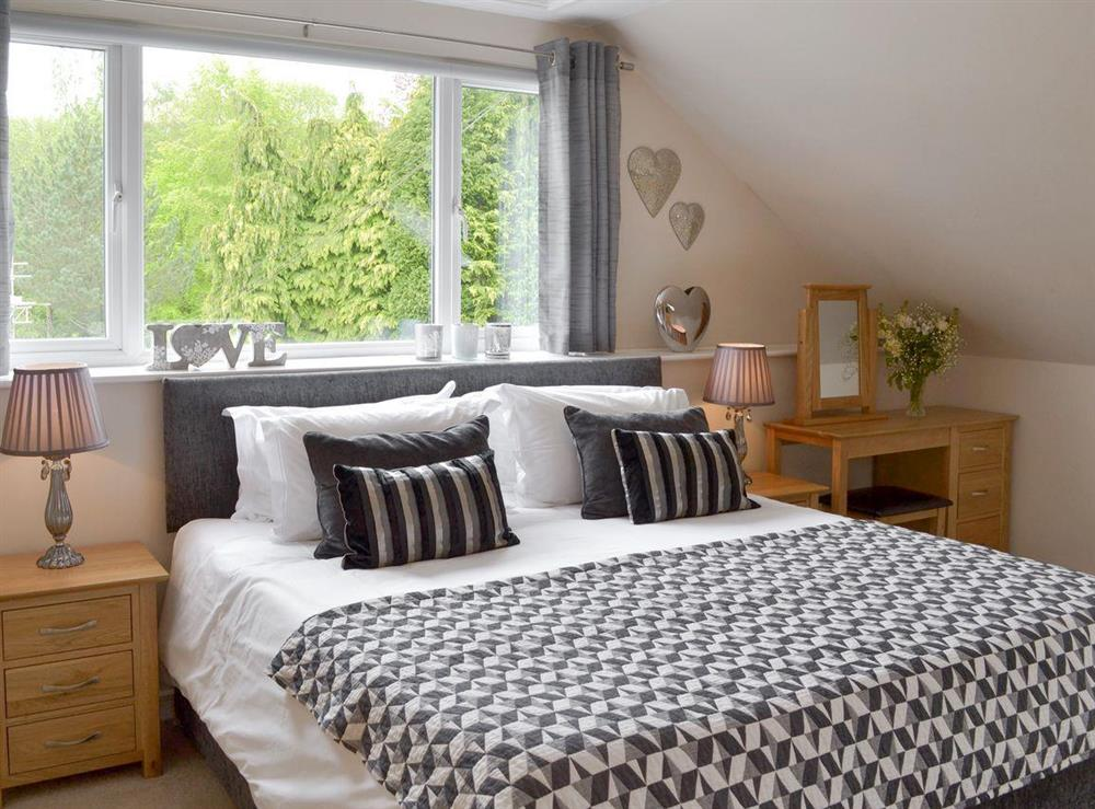 Comfortable double bedroom at Sundance in Cheriton Bishop, Devon