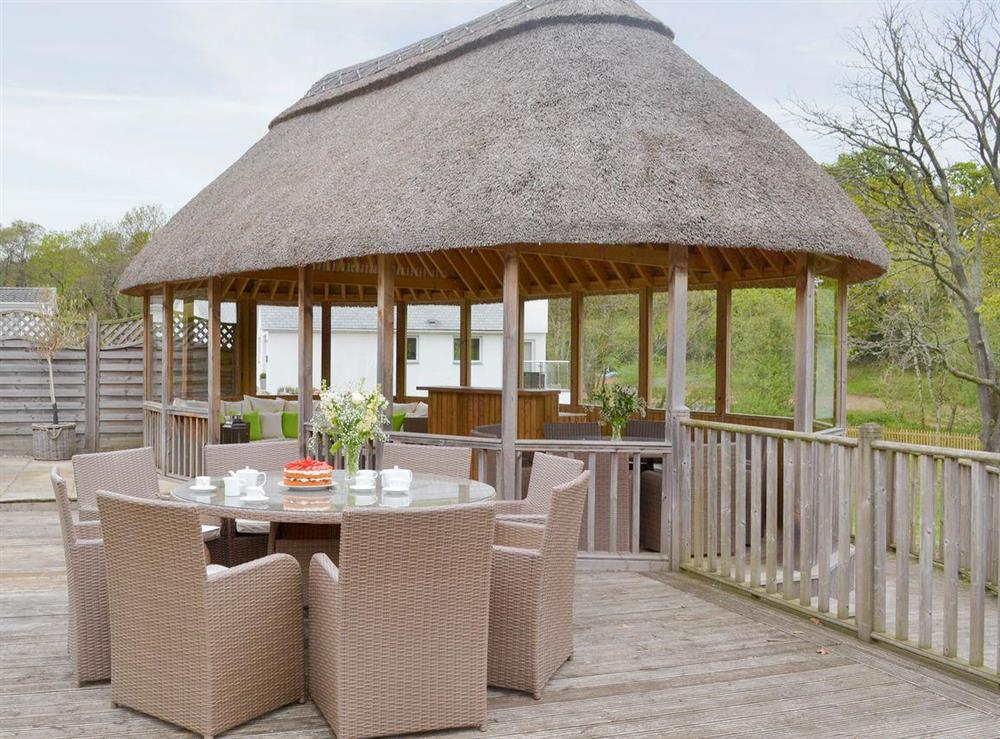 Outdoor seating areas at Sundance in Cheriton Bishop, Devon