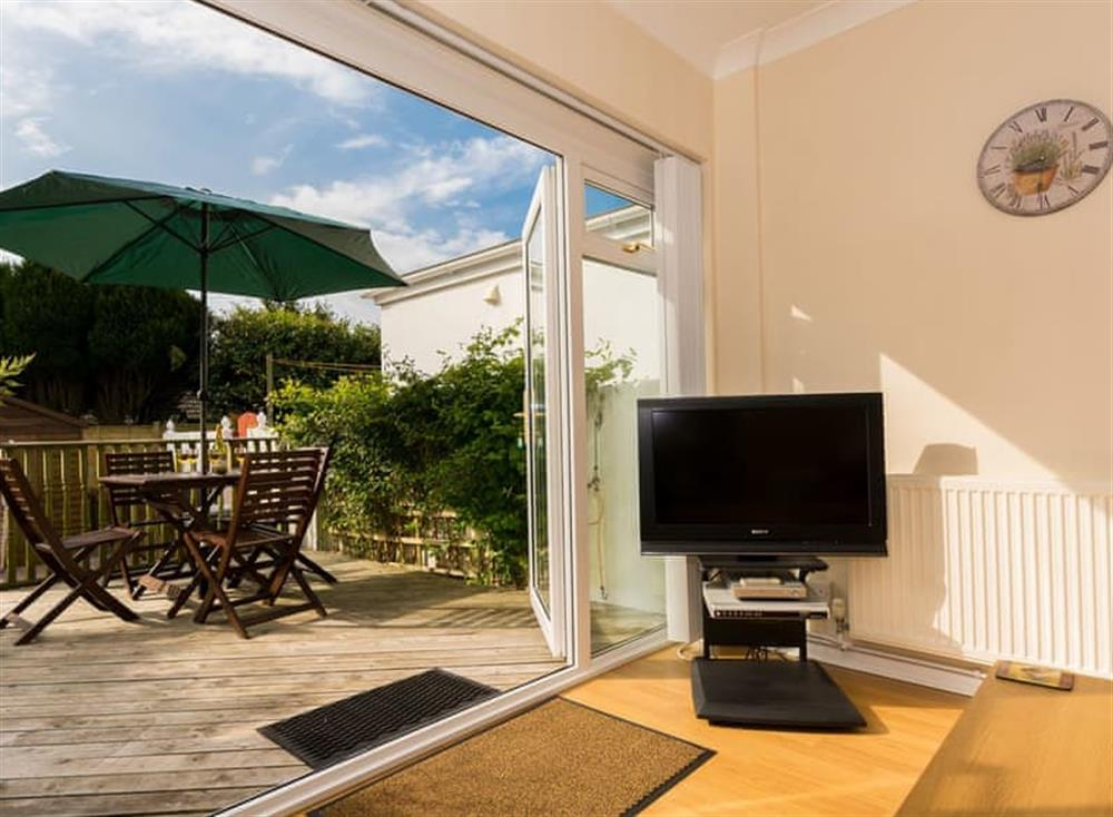 Living area at Sundeck in Brixham, South Devon