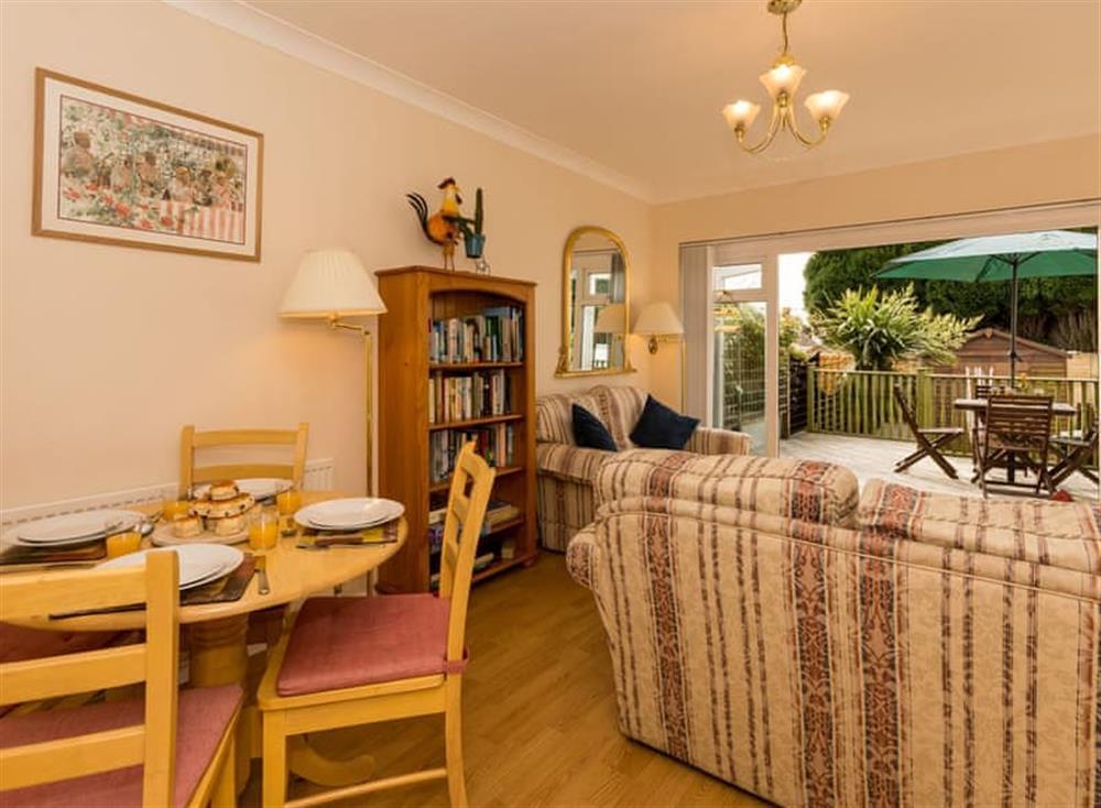 Living room/dining room at Sundeck in Brixham, South Devon