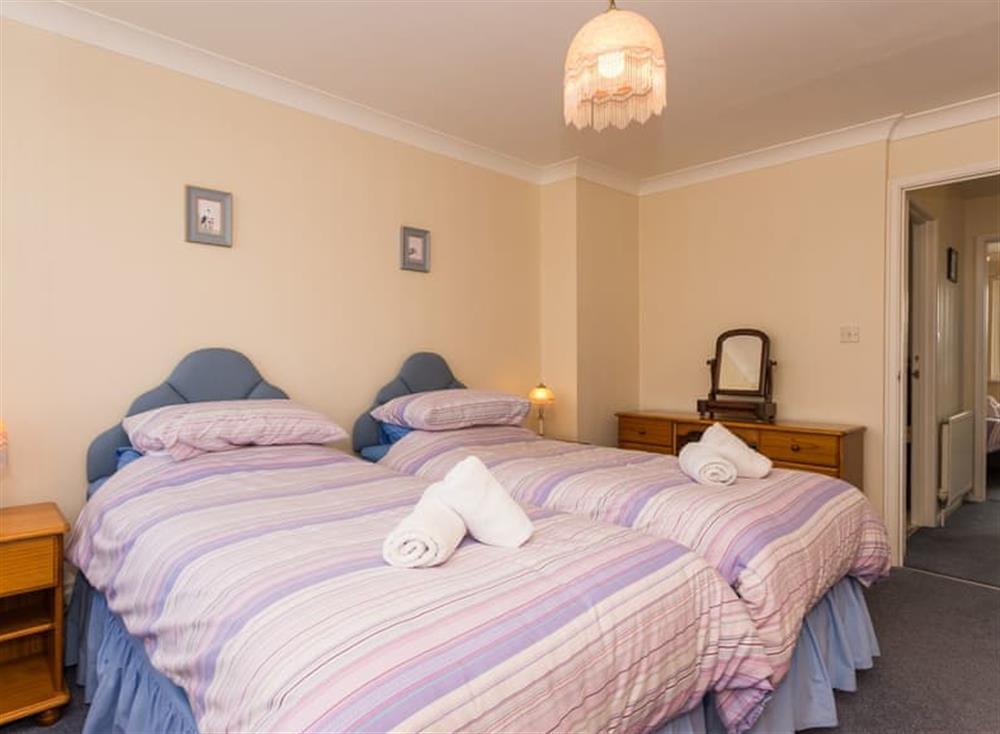 Twin bedroom at Sundeck in Brixham, South Devon