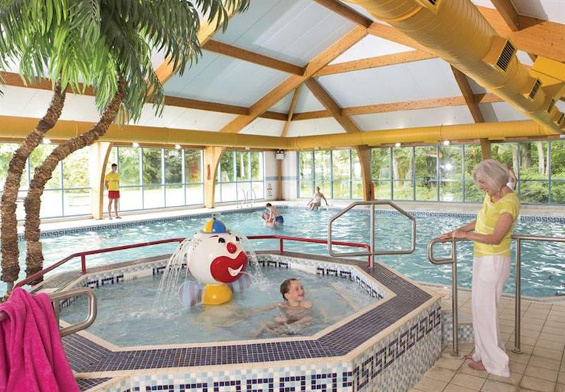 Indoor heated pool at Sundrum Castle in Ayr, South West Scotland