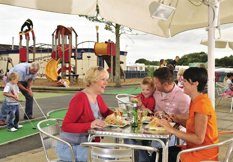 Outdoor dining at Sundrum Castle in Ayr, South West Scotland