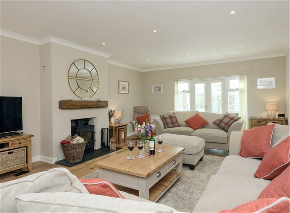 Stylish living room at Sunny View in Northrepps, near Cromer, Norfolk