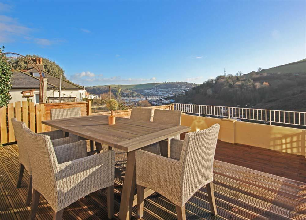 Large sunny decked area provides views over the town at Sunnyside in , Dartmouth