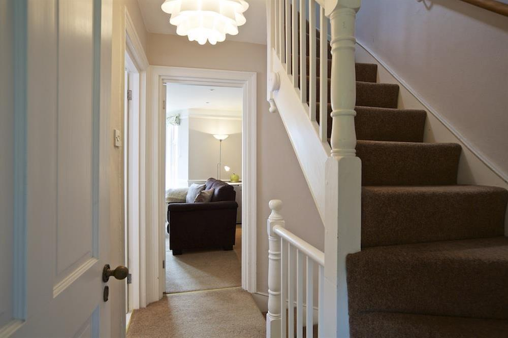 Stairs leading to the bedrooms at Sunnyside in , Dartmouth