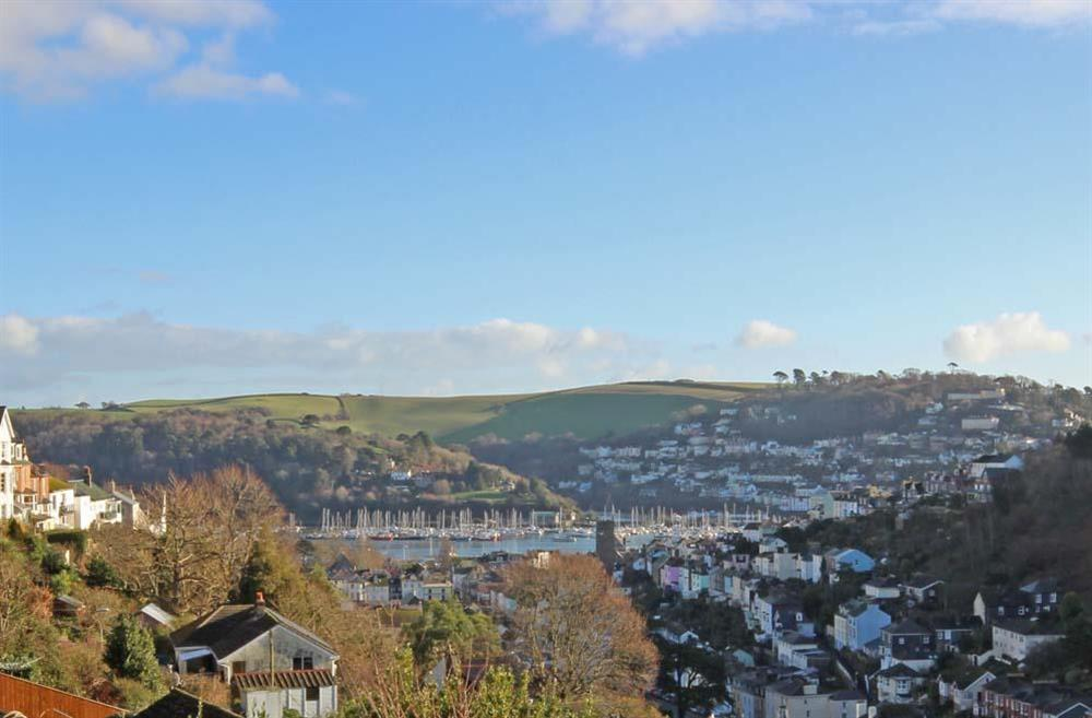 Views from the decking over Dartmouth towards Kingswear at Sunnyside in , Dartmouth