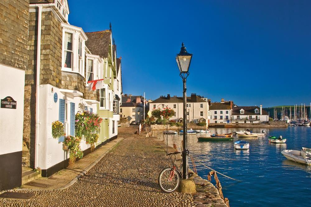 Walk the cobbled streets along the River Dart at Sunnyside in , Dartmouth