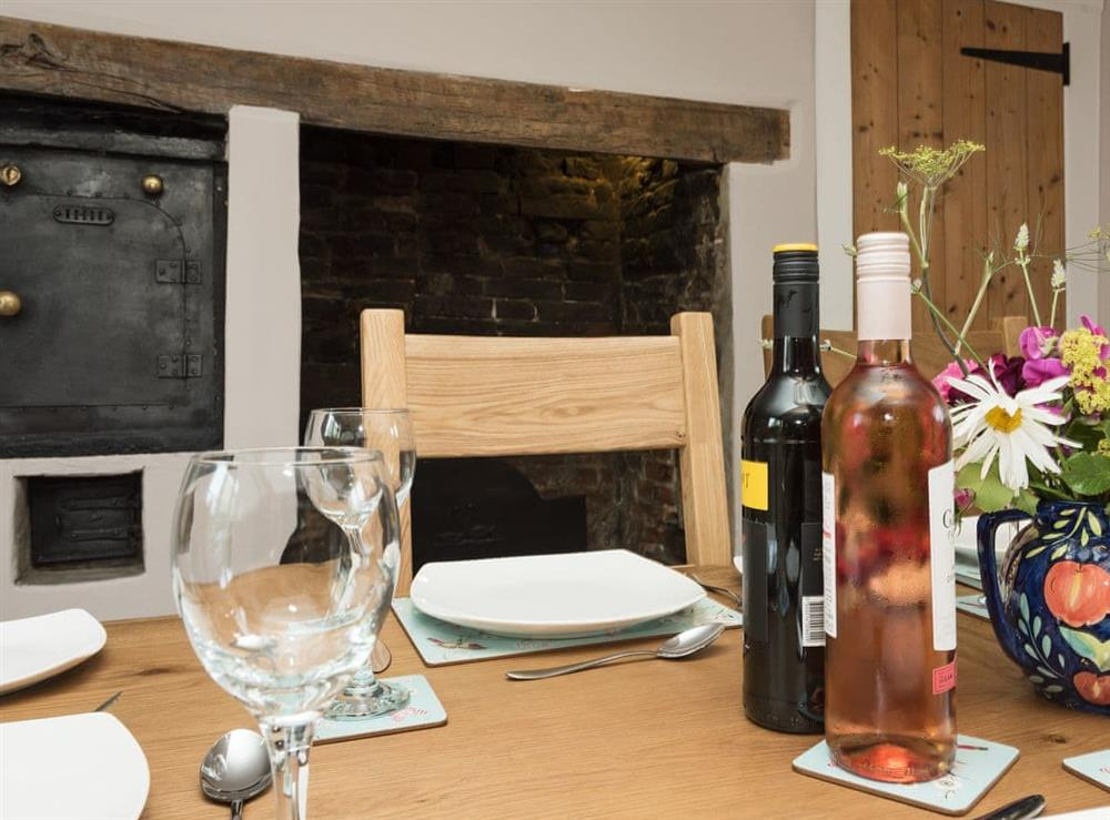 Characterful dining room with beams (photo 2) at Sunnyside in Ludham, near Wroxham, Norfolk