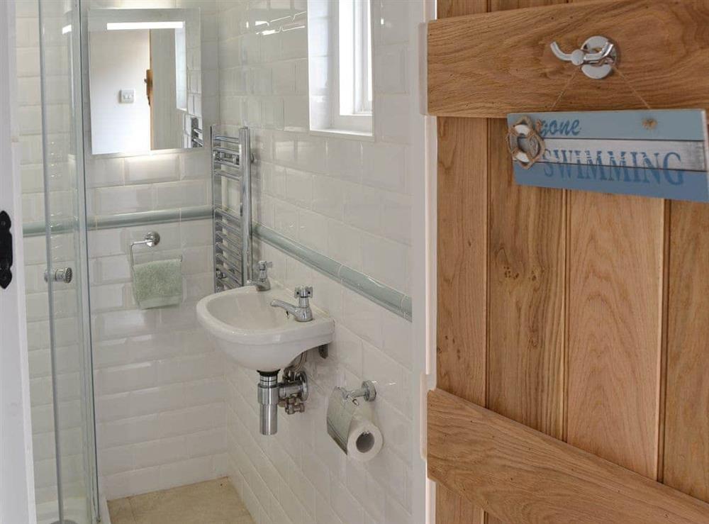 Shower room at Sunnyside in Ludham, near Wroxham, Norfolk