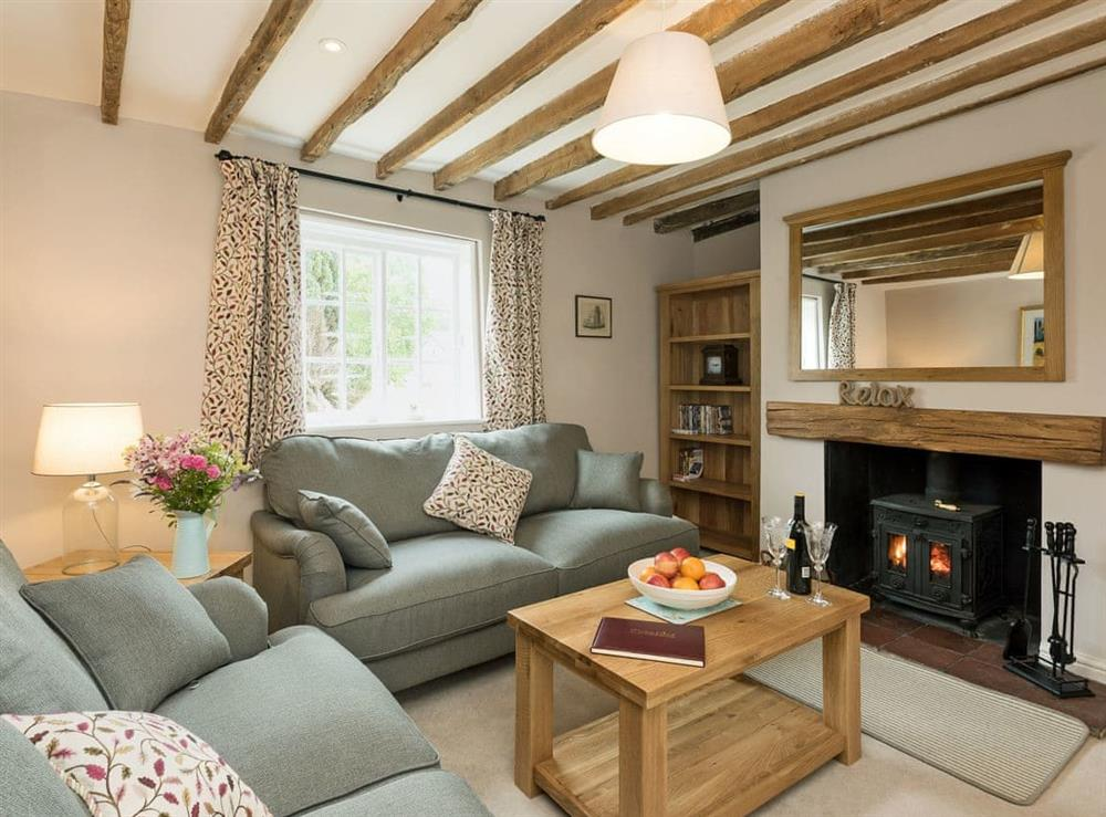 Thoughtfully converted living room with wood burner at Sunnyside in Ludham, near Wroxham, Norfolk