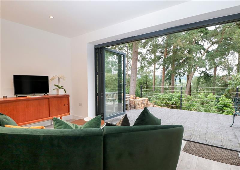 The living area at Surrey Hills Cottage, Westcott near Dorking