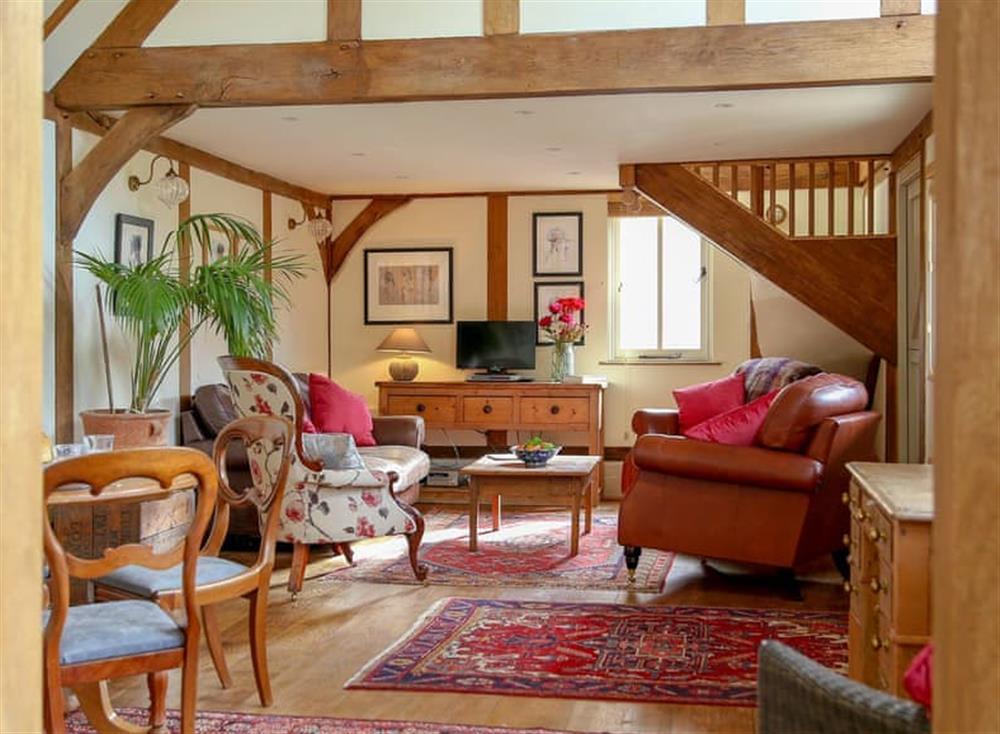 Open plan living space at Surrey Hills Retreat in Dorking, Surrey