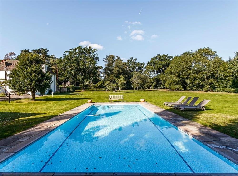 Swimming pool at Swallowfield House in Farley Hill, near Wokingham, Berkshire