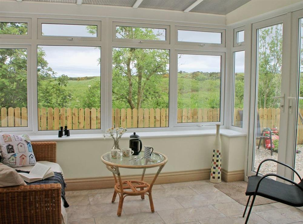 Light and airy conservatory at Swallows in Borgue, near Kirkcudbright, Kirkcudbrightshire