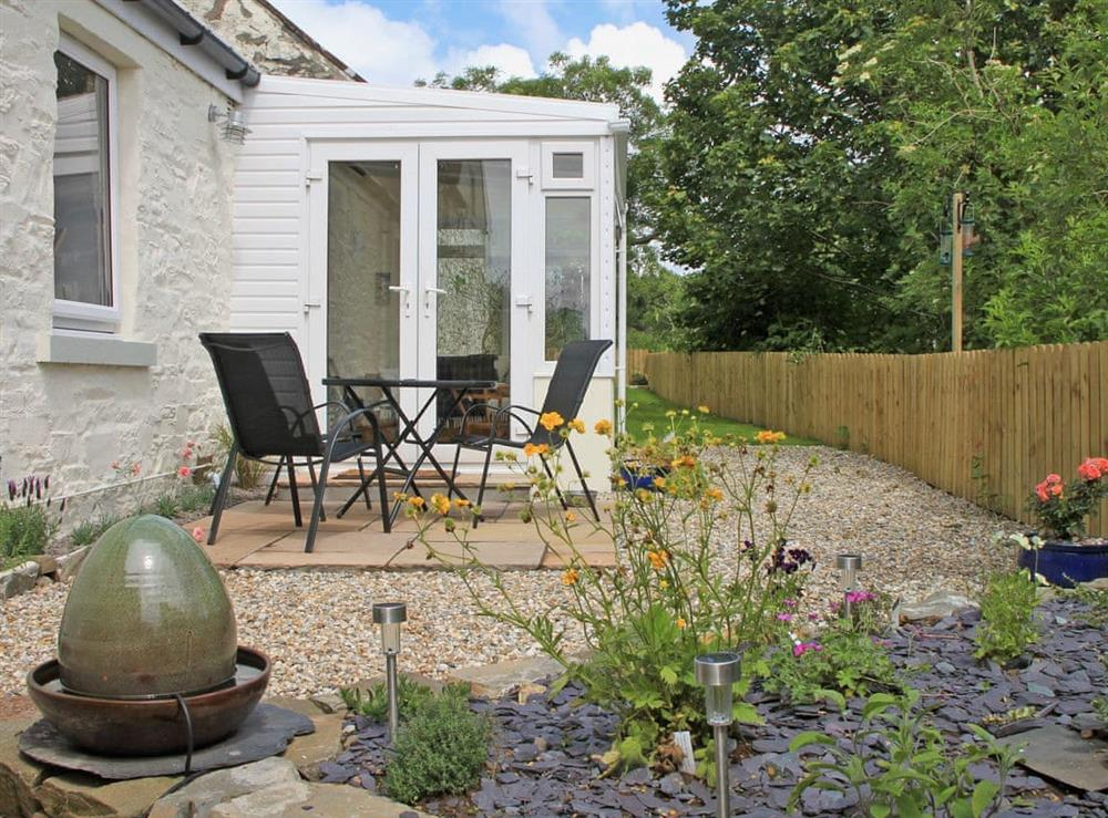 Relaxing sitting-out-area at Swallows in Borgue, near Kirkcudbright, Kirkcudbrightshire