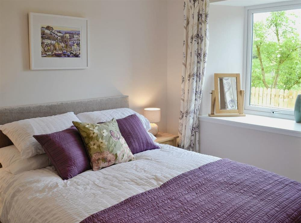 Romantic double bedroom at Swallows in Borgue, near Kirkcudbright, Kirkcudbrightshire