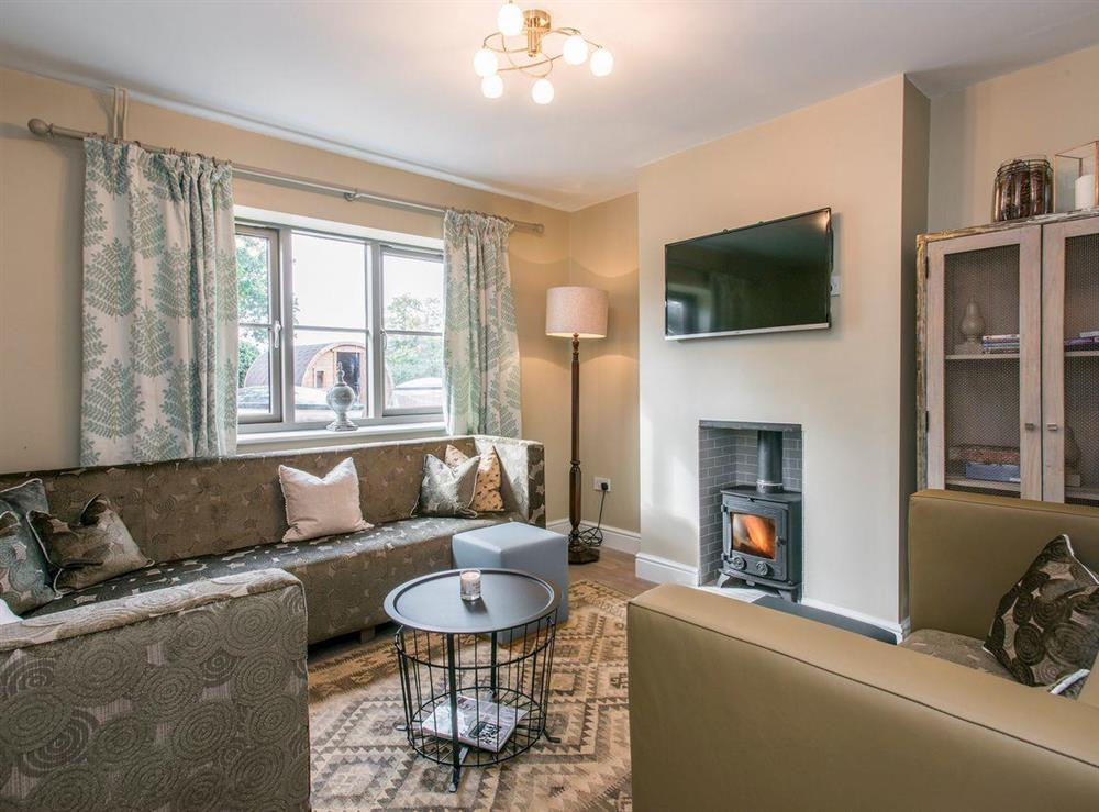 Welcoming snug at Cowslip Cottage,