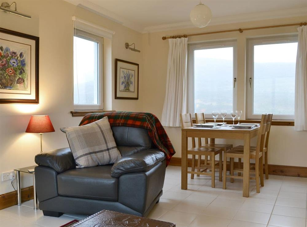 Spacious living and dining room at Taigh Iasg in Glenuachdarach, Isle Of Skye