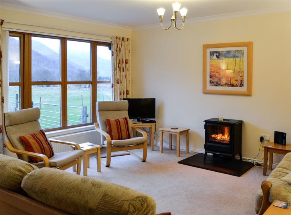Living room at Taigh Seonaig in Glencoe, near Fort William, Highlands, Argyll
