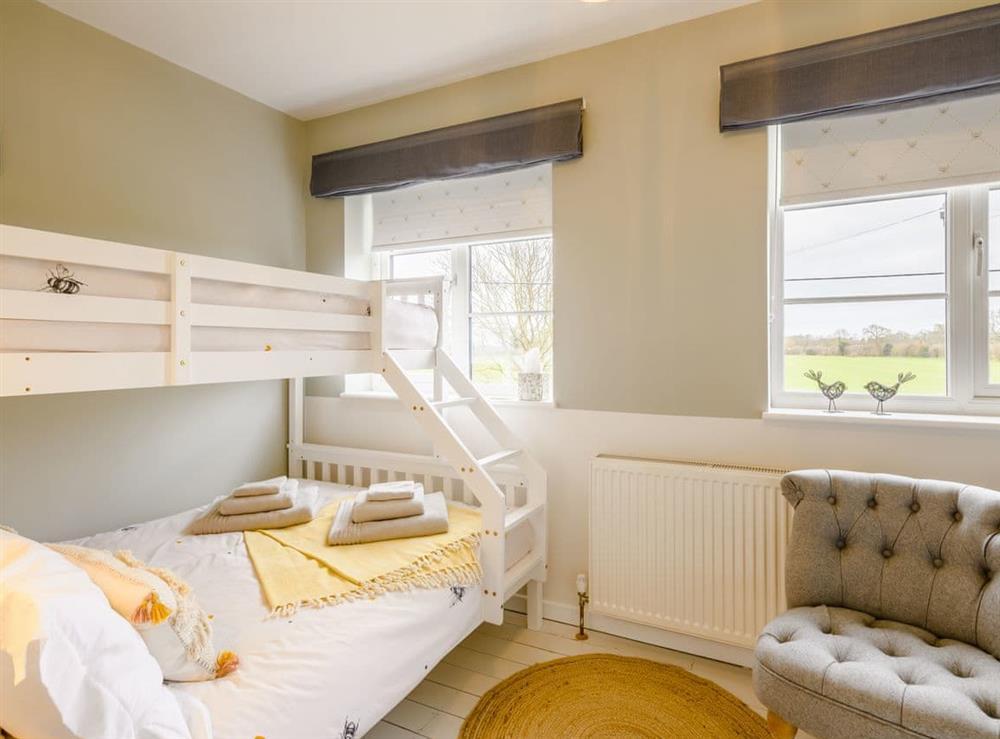 Bunk bedroom at Tamerisk in Tunstead, near Norwich, Norfolk