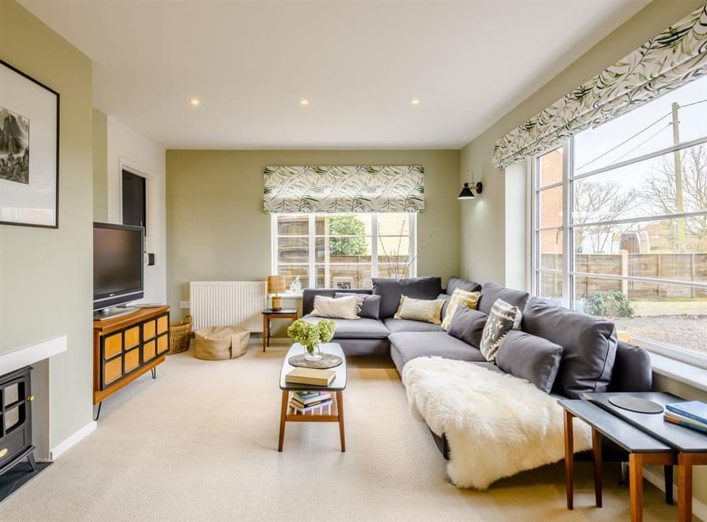 Living room at Tamerisk in Tunstead, near Norwich, Norfolk