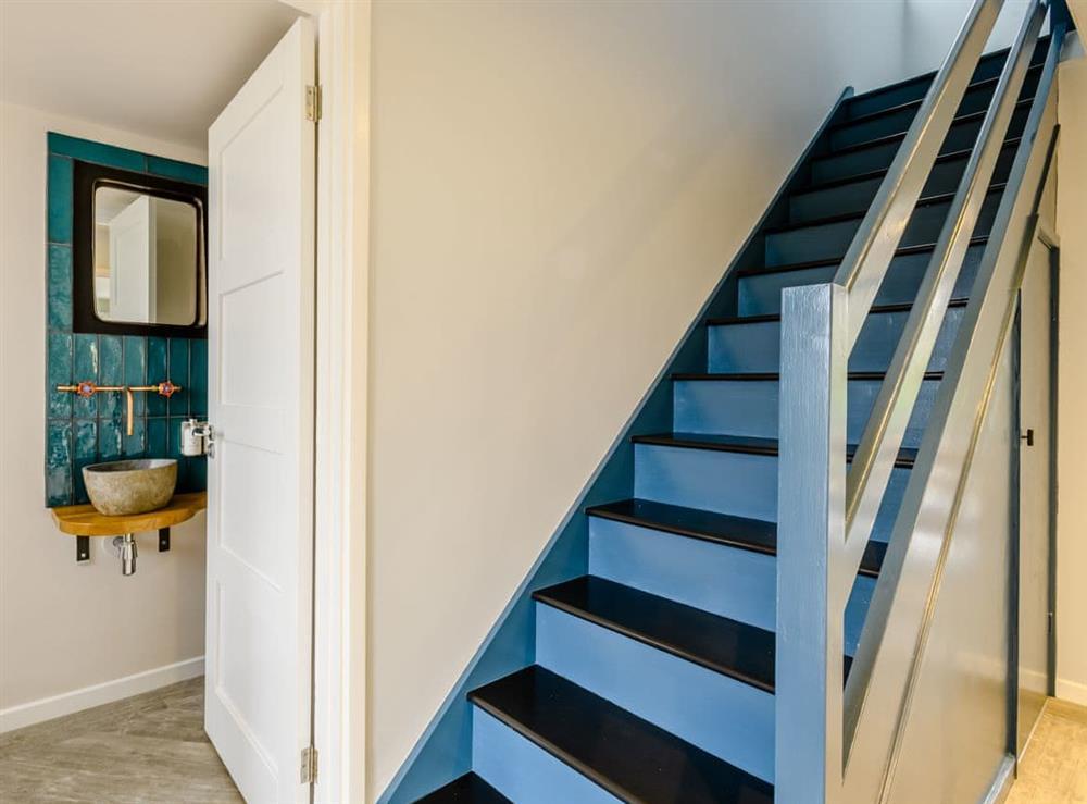 Stairs at Tamerisk in Tunstead, near Norwich, Norfolk