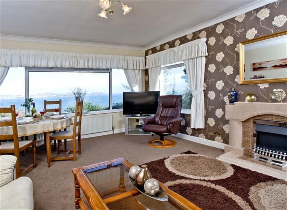 Living room/dining room at Tanna Nivas in Paignton, South Devon