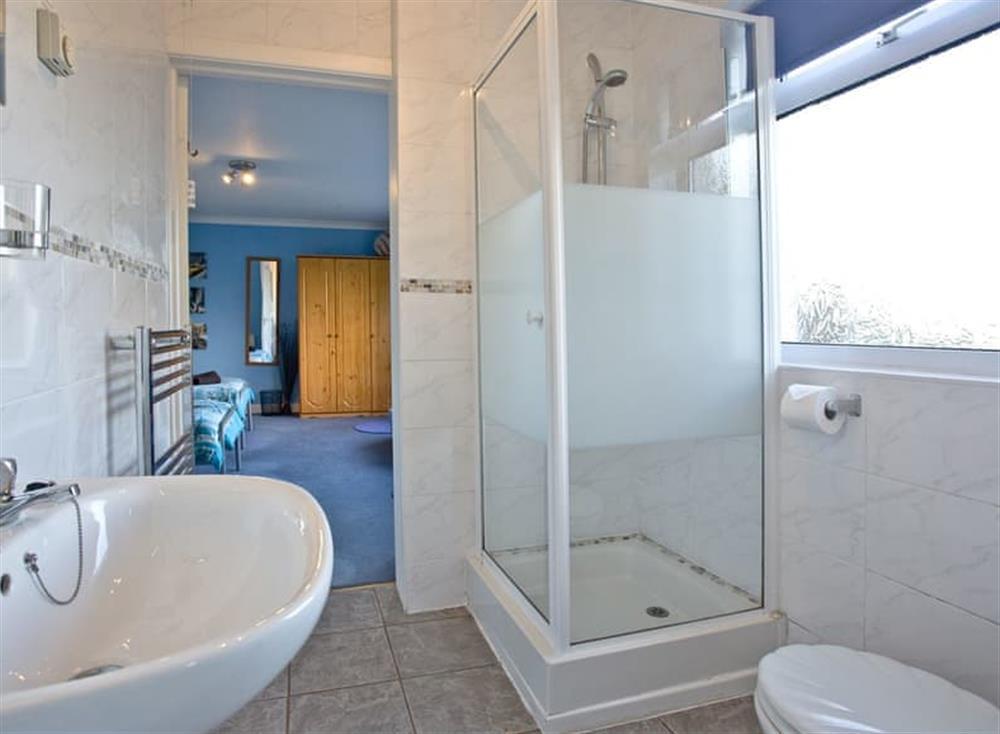 Shower room at Tanna Nivas in Paignton, South Devon