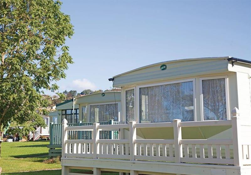 The caravans at Tarka Holiday Park in Ashford, Barnstaple