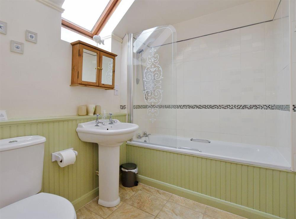 Bathroom at Tarragon Cottage in Kingswear, Nr Dartmouth, South Devon., Great Britain
