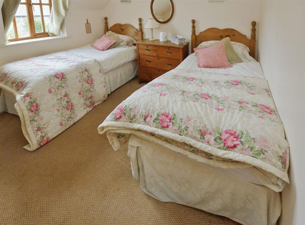 Twin bedroom at Tarragon Cottage in Kingswear, Nr Dartmouth, South Devon., Great Britain