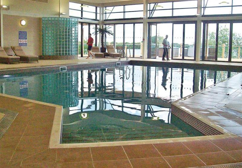 Indoor heated swimming pool at Tattershall Lakes Country Park in Tattershall, Lincolnshire