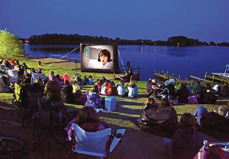 Outdoor cinema at Tattershall Lakes Country Park in Tattershall, Lincolnshire