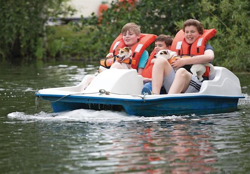 Pedalos at Tattershall Lakes Country Park in Tattershall, Lincolnshire