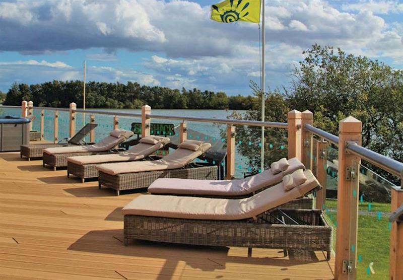 Pool decking at Tattershall Lakes Country Park in Tattershall, Lincolnshire
