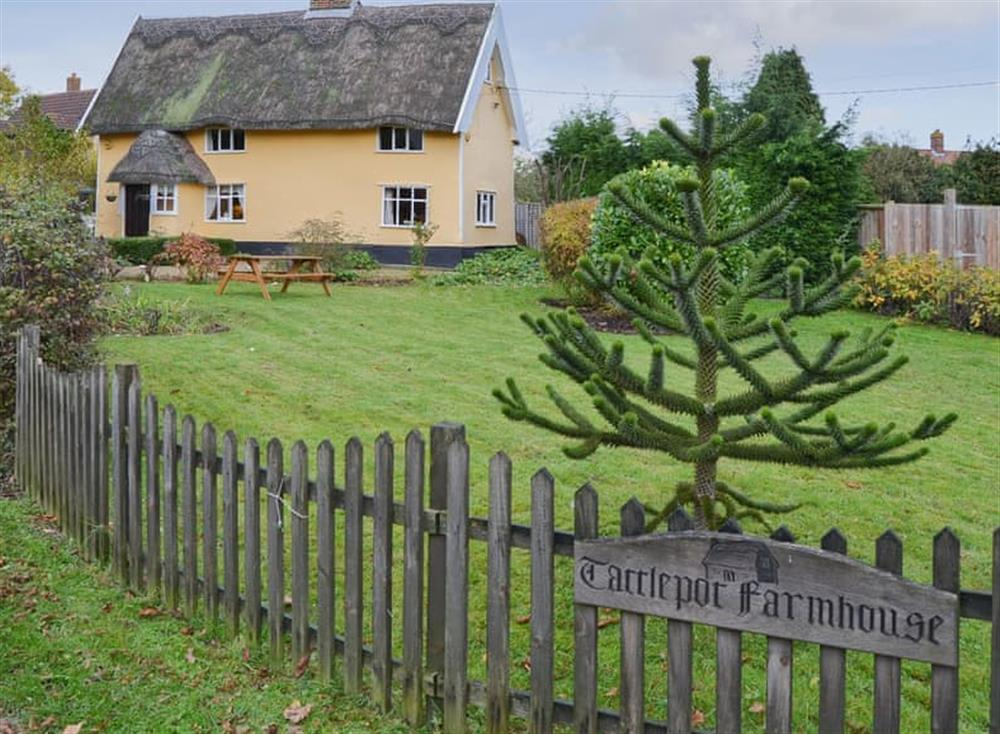 Imposing detached farmhouse at Tattlepot Farmhouse in Pulham Market, near Diss, Norfolk